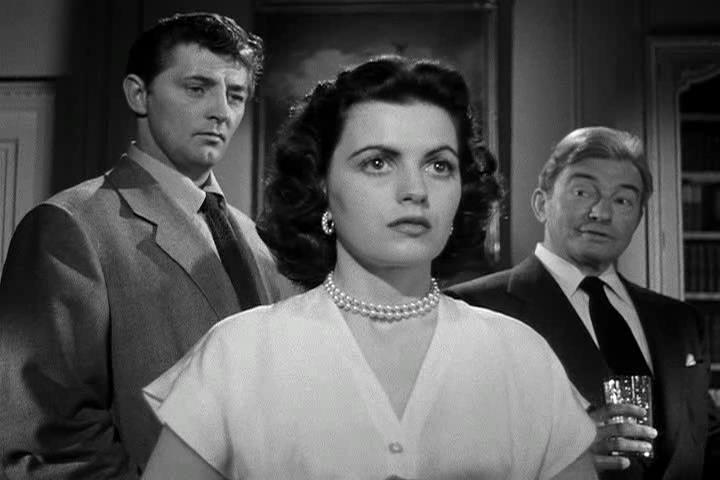 Robert Mitchum, Faith Domergue, Claude Rains - Where Danger Lives (1950)