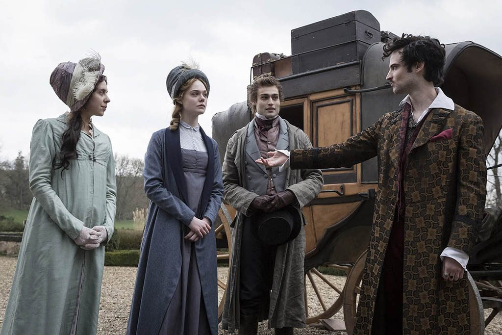 Bel Powley, Elle Fanning, Douglas Booth, Tom Sturridge - Mary Shelley (2017)
