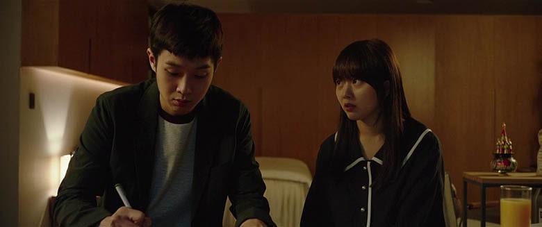 Ki-woo'nun Park Da-hye'ye, İngilizce öğrettiği plan.