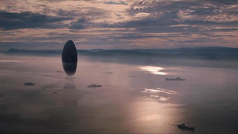 Heptapodların uzay aracının yer aldığı plan
